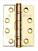 Hinges Polished Electro Brass Class 13 102x76x3 (1.5PRS) Comes With Intumescent Plates